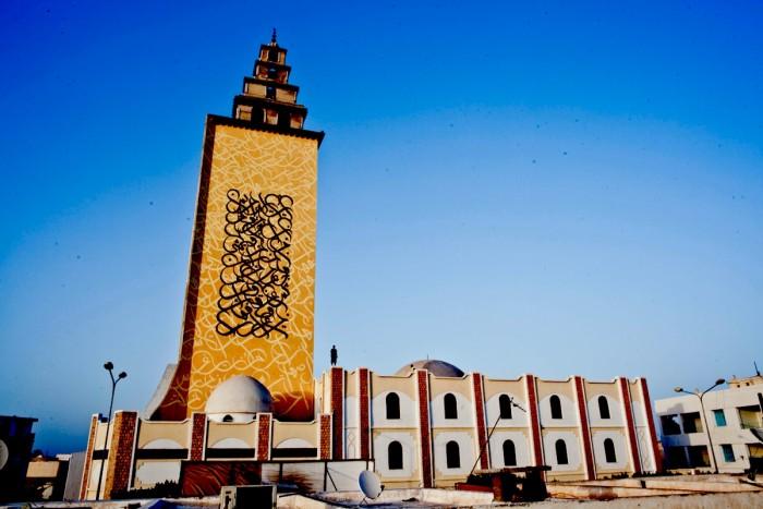 Jara Mosque - Minaret side 1, Gabes, Tunisia ©eL Seed