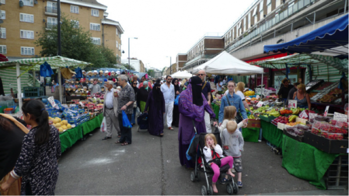 A view of Chruch Street Market just off of Edgware Road.