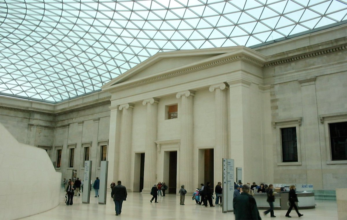 British Museum, The Great Court, South Portico