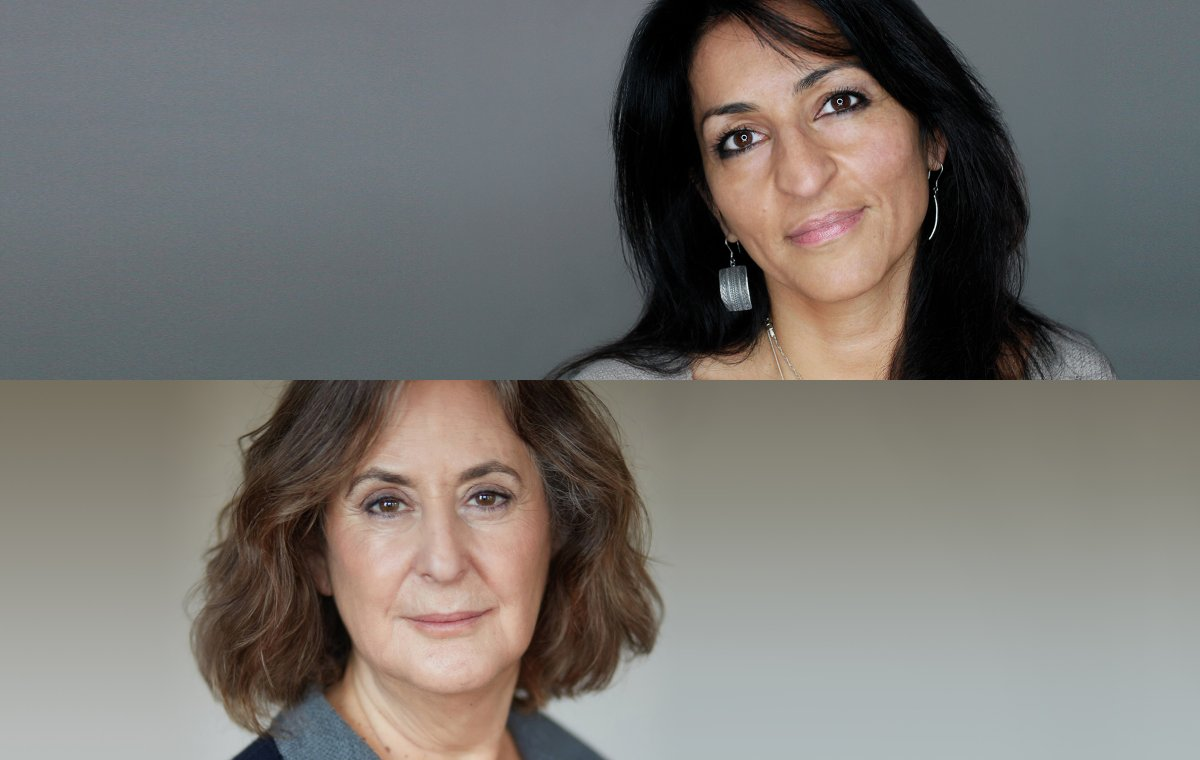 Susan Abulhawa (top, photo: Chase Burkett) and Gillian Slovo (below)