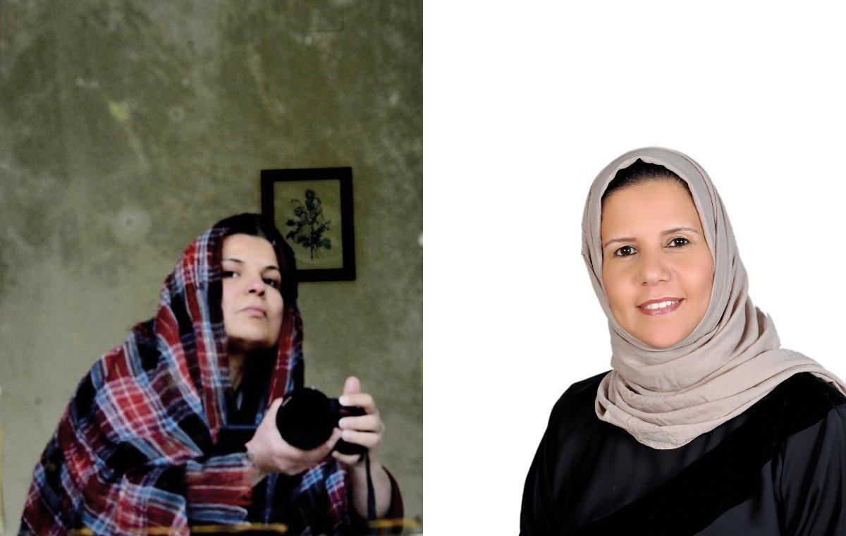 Najwa Benshatwan (left) and Nadia Al-Kokabany (right)