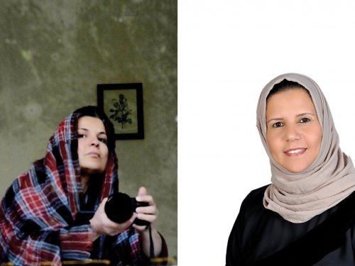 Najwa Benshatwan (left) and Nadia Al-Kokabany (right)
