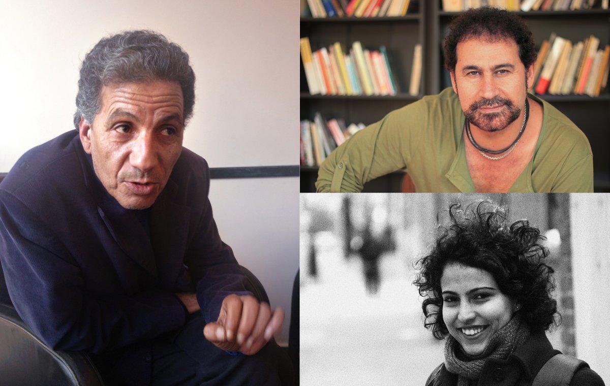 (clockwise from left) Mansour Bushnaf, Ali Badr and Mona Kareem.