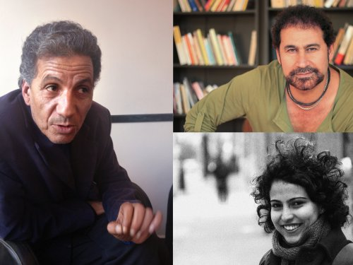 (clockwise from left) Mansour Bushnaf, Ali Badr and Mona Kareem.