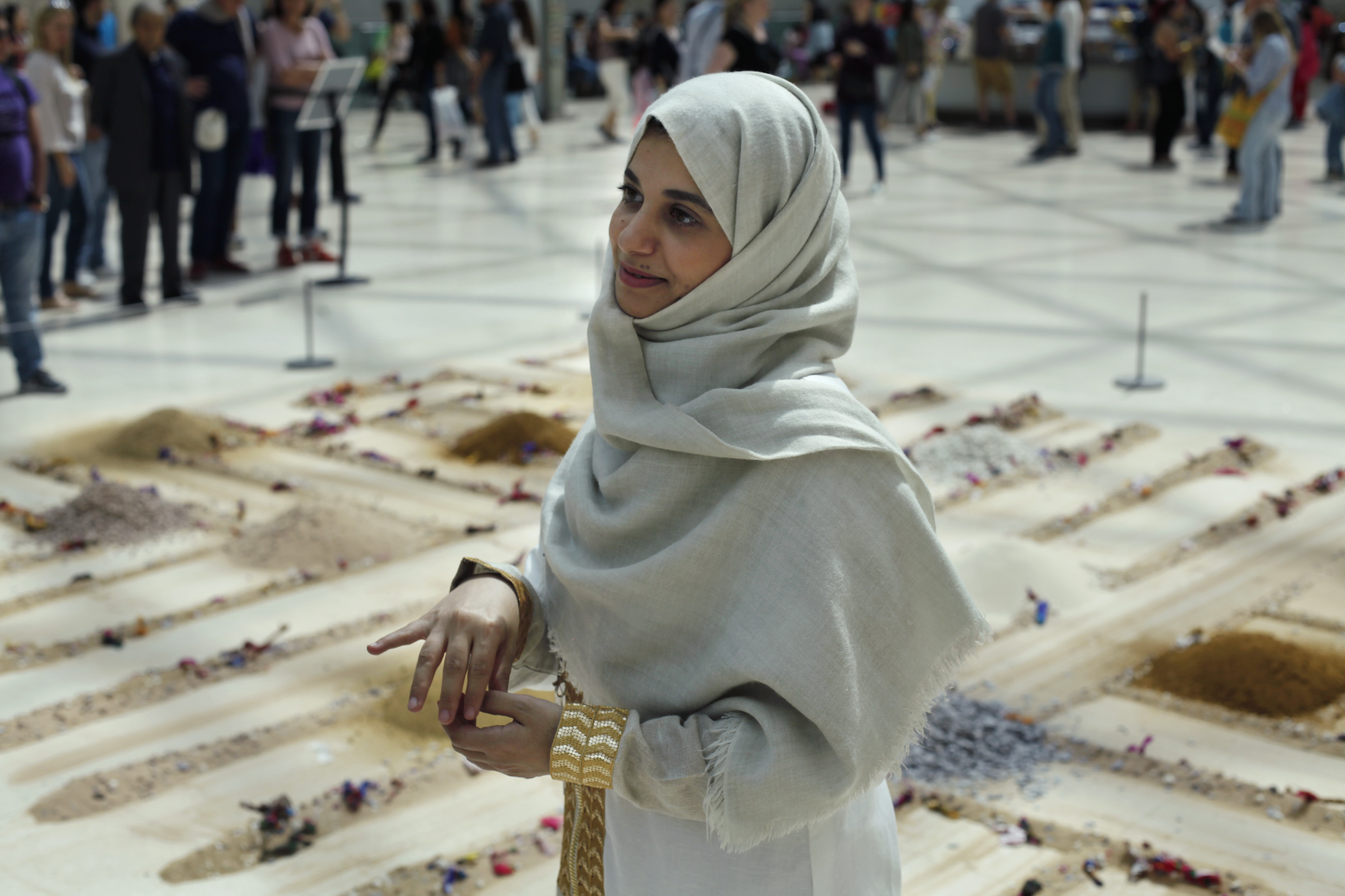 Inanimate Village by Zahrah Al-Ghamdi in the British Museum's Great Court for Shubbak 2017
