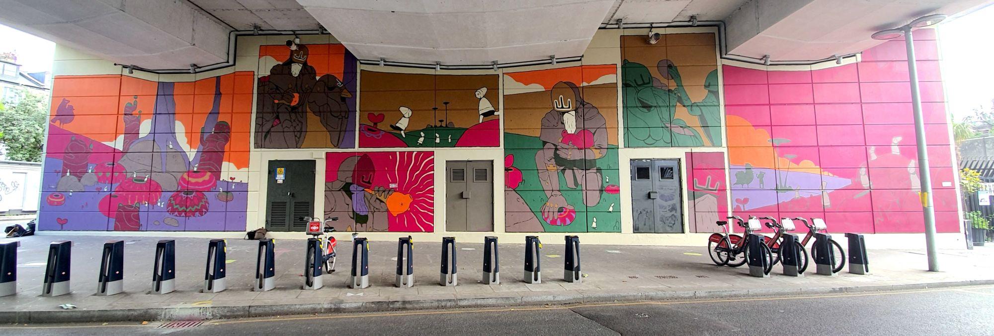 Mehdi Annassi's mural in North Kensington