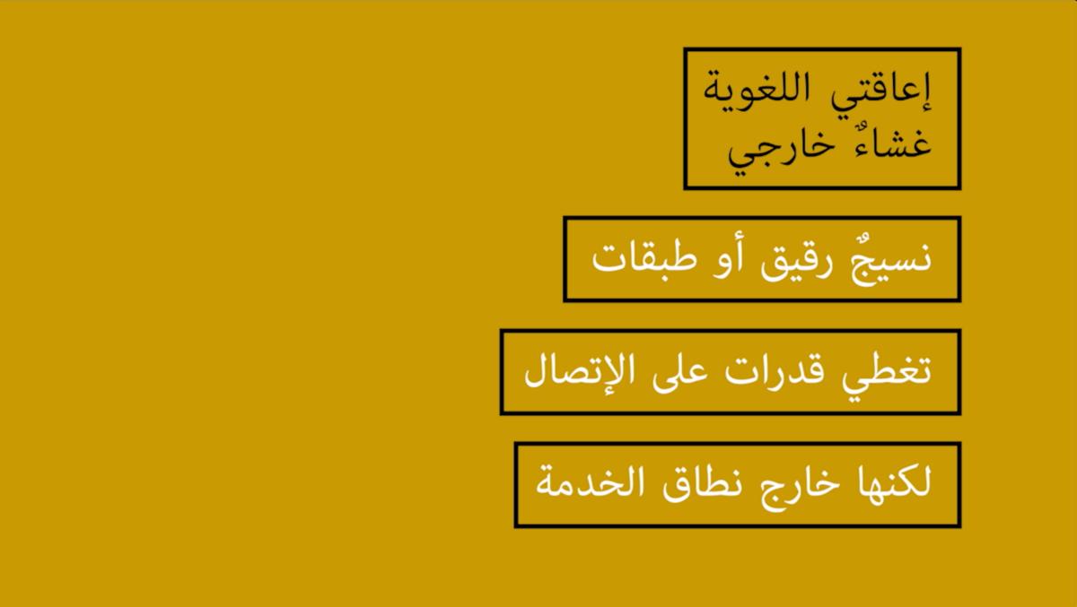 L'insuffisance linguistique in Arabic