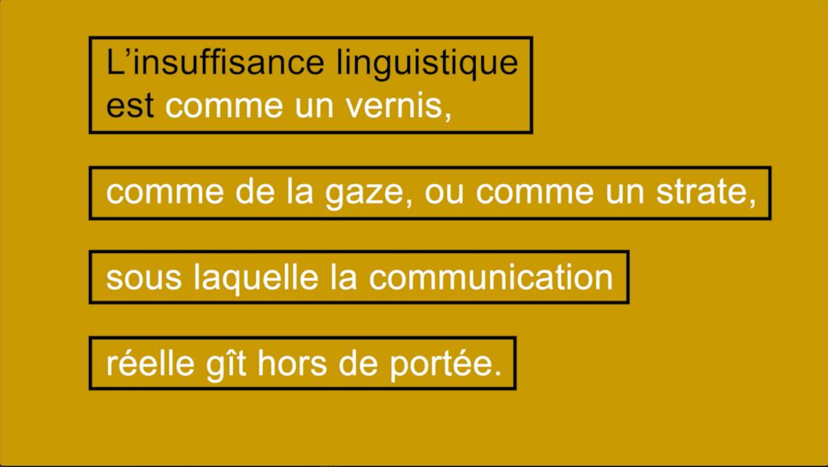 L'insuffisance linguistique