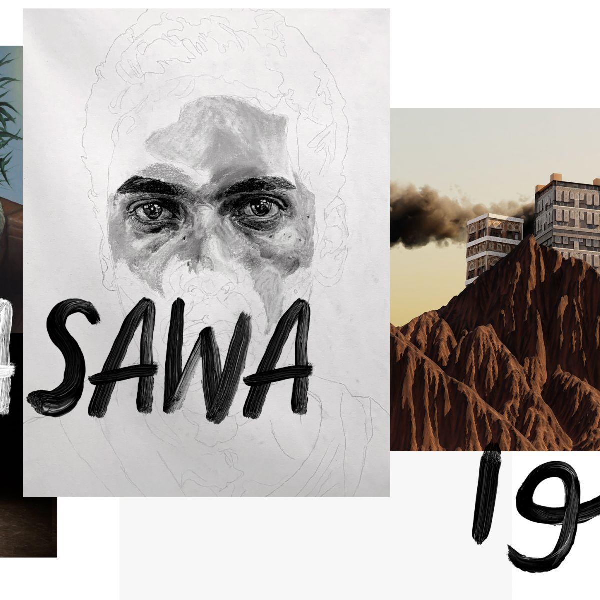 Montage of artworks