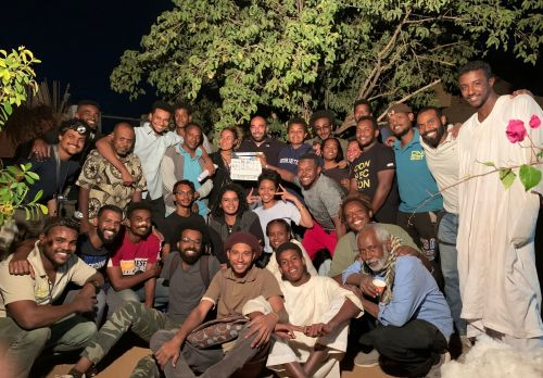 A portrait of the crew of the Sudanese film Al-Sit