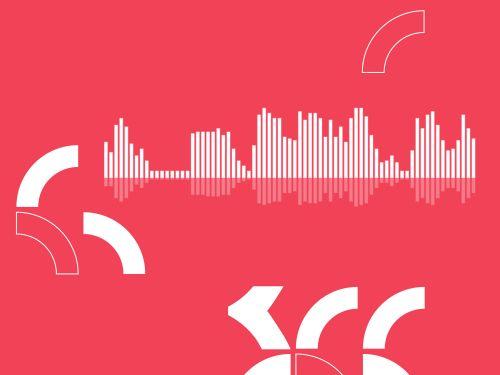 Graphic of audio soundwaves