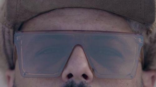 A close up of a man wearing shades